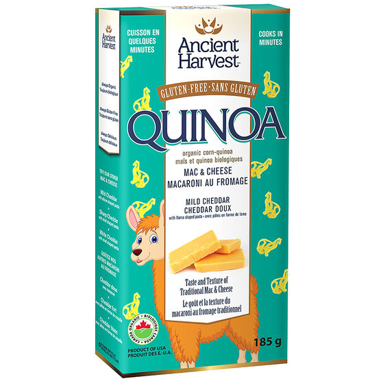 Ancient Harvest Gluten Free Quinoa Llama Shaped Mac & Cheese - Mild Cheddar - 185g