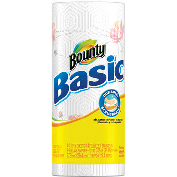 Bounty Basic Towels - Prints - Single Roll