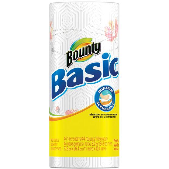 Bounty Basic Towels - Prints - Single Roll
