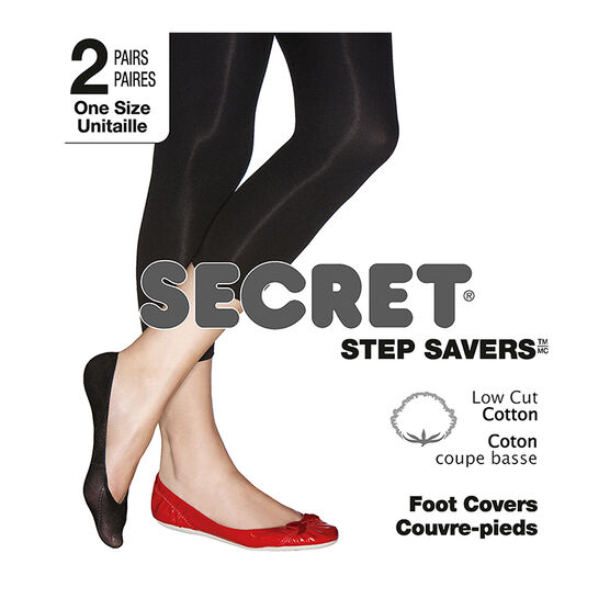 Secret Step Saver Low Cut CottonFoot Cover - Nude - 2 pair