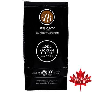 Kicking Horse Organic Whole Bean Dark Coffee - Grizzly Claw - 454g