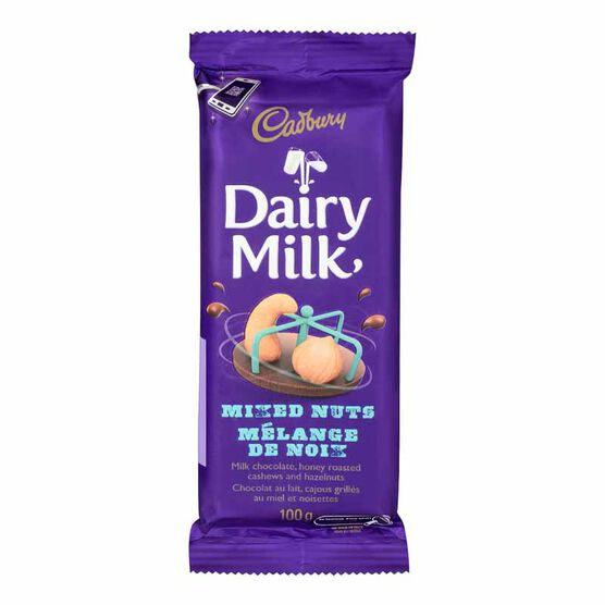 Cadbury Dairy Milk - Honey Roasted Cashews & Hazelnuts - 100g