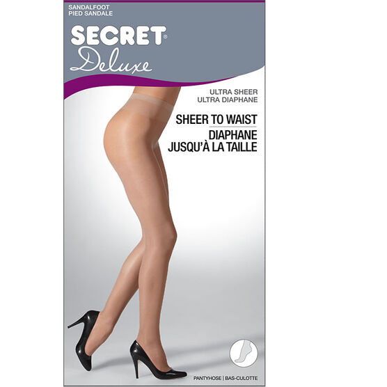 Secret Deluxe Ultra Sheer to Waist - A - Black