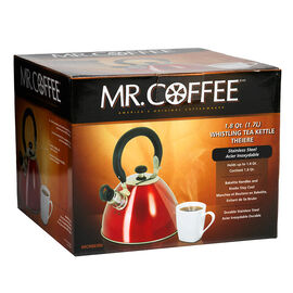 Mr. Coffee Tea Kettle - Red - 1.8qt