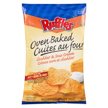 Ruffles Baked Cheddar & Sour Cream - 180g