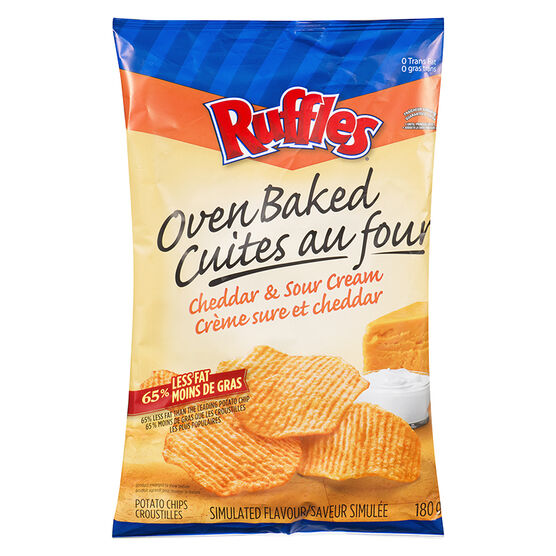 Ruffles Baked Cheddar & Sour Cream - 180g