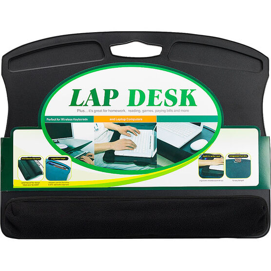 Lap Desk with Microbead Wrist Rest - Black