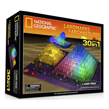 Laser Pegs National Geographic Landmarks and Archaeology Kit