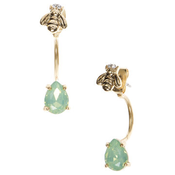 Lonna & Lilly Bee Floating Earrings - Green