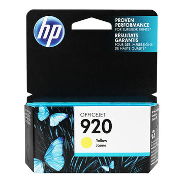 HP 920 Officejet Ink Cartridge - Yellow - CH636AC140