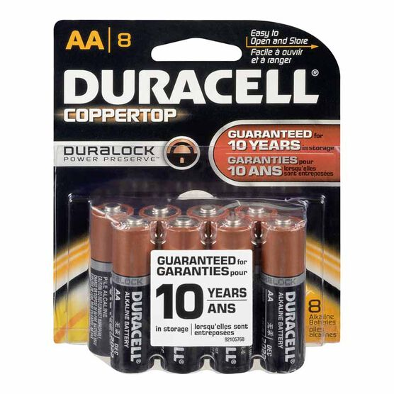 Duracell AA Alkaline Battery - 8 pack