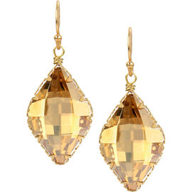 Haskell Crystal Drop Earrings - Light Colorado/Gold
