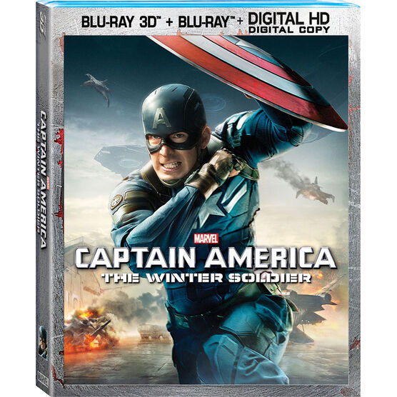 Captain America: The Winter Soldier 3D - Blu-ray 3D + Blu-ray + Digital HD
