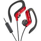 JVC Sport-Clip Headphones with Remote/Mic - Red - HAEBR80R