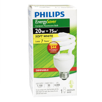 Philips Soft white CFL Bulb - 20w - 406405
