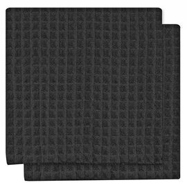 Kitchenworks Waffle Dish Cloth - Black - 2 pack
