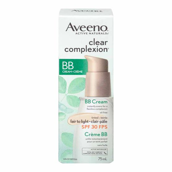 Aveeno Active Naturals Clear Complexion BB Cream with SPF 30 - 75ml - Fair to Light