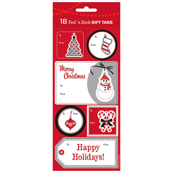 Christmas Black and White Gift Tags - 18s