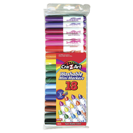 Cra-Z-Art Mini Broadline Markers - 18's
