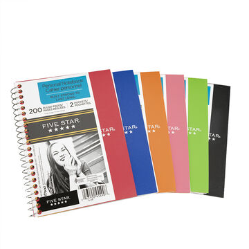 Mead Five Star One Subject Notebook - 17.7 x 12.7cm- 200 pages
