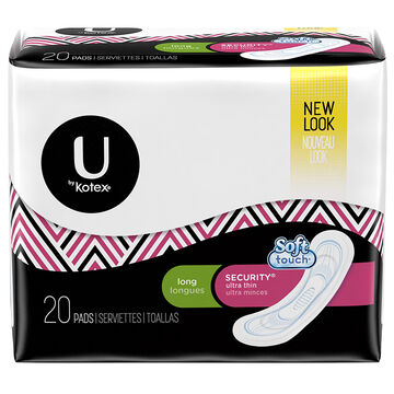 U by Kotex Security Ultrathin Pads - Long - 20's