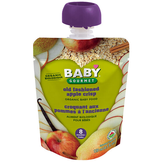 Baby Gourmet Baby Food Stage 3 - Old Fashioned Apple Crisp - 128ml