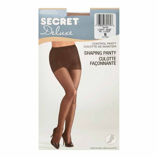 Secret Ultra Silky Shaping  Panty Hose - B - Light Nude