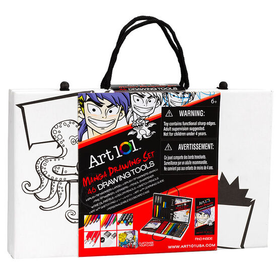 Art 101 Manga Drawing Set - 46 pieces