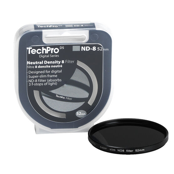 TechPro DS 52mm Neutral Density 8 Filter - FIMSND8B52-CB