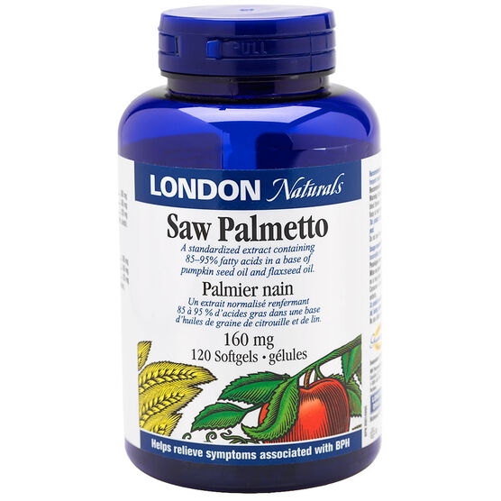 London Naturals Saw Palmetto 160mg - 120's