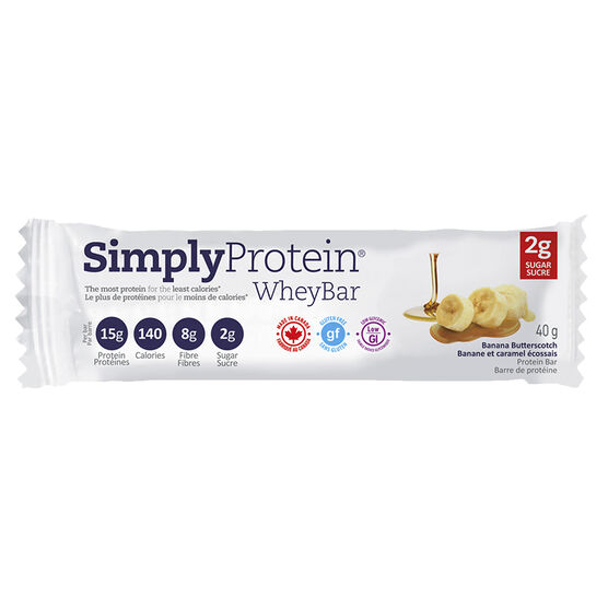 Simply Protein Whey Bar - Banana Butterscotch - 40g