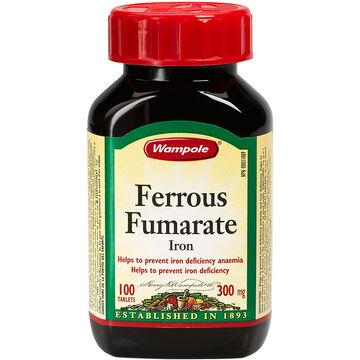 Wampole Ferrous Fumarate Iron - 300mg/100's