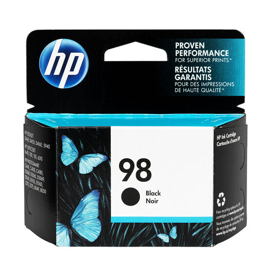 HP 98 Vivera Inkjet Print Cartridge - Black - C9364WC-140