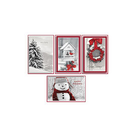 American Greetings Deluxe Christmas Cards - Photo with Red - 14 count - Assorted