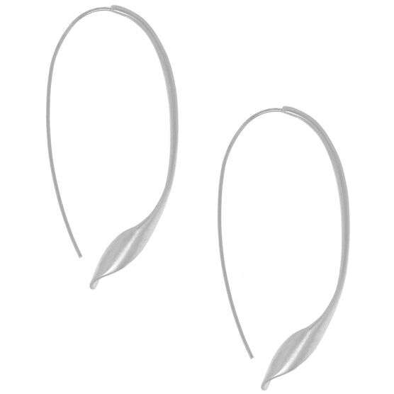 Kenneth Cole Oval Twist Earrings - Silver Tone