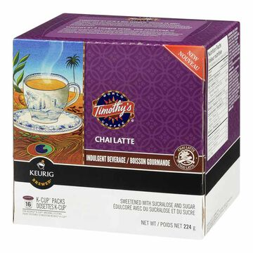K-Cup Timothy's Coffee Pods - Chai Latte - 16's