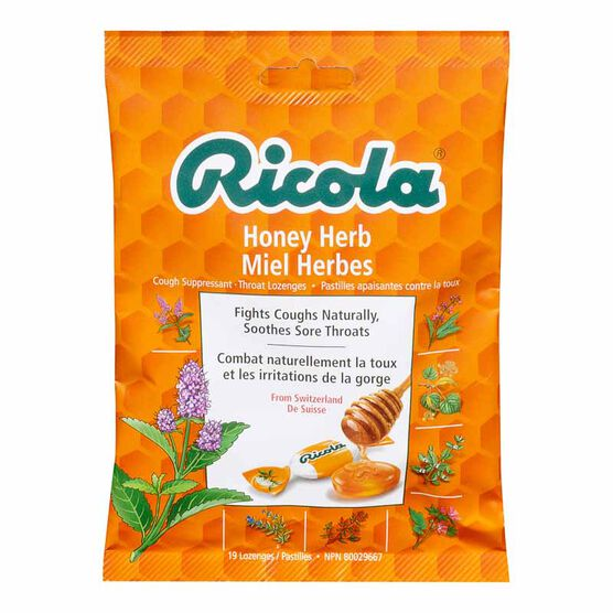 Ricola Swiss Herb Drops - Honey Herb - 75g