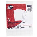 Hilroy Figuring Pad 8.5x11 Quad - 3 Pack