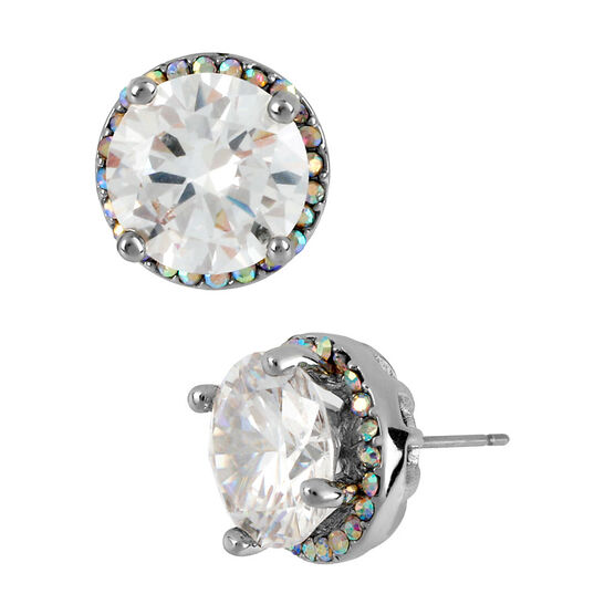 Betsey Johnson Crystal Medium Stud Earrings - Crystal