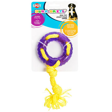 Dura-Brite Ring Tug Dog Toy - Assorted