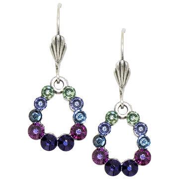 Anne Koplik Multi-Coloured Open Teardrop Earrings