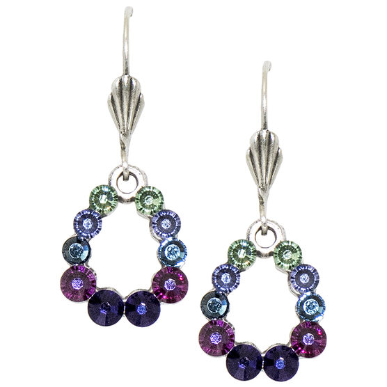 Anne Koplik Multi-Coloured Open Teardrop Earrings