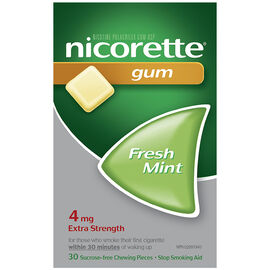 Nicorette Gum - Fresh Mint - 4mg - 30's
