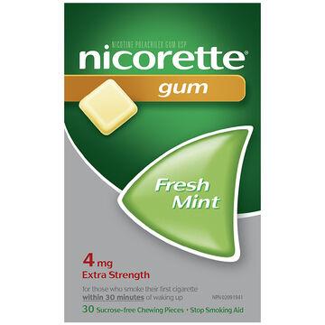 Nicorette Gum - Fresh Mint - 4mg - 30's
