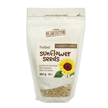 London Plantation Hulled Sunflower Seeds - Roasted & Salted - 400g