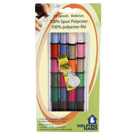 Helping Hand 100% Spun Polyester Thread Spools - 24 pack