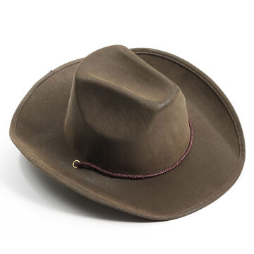 Halloween Suede Cowboy Hat - Brown