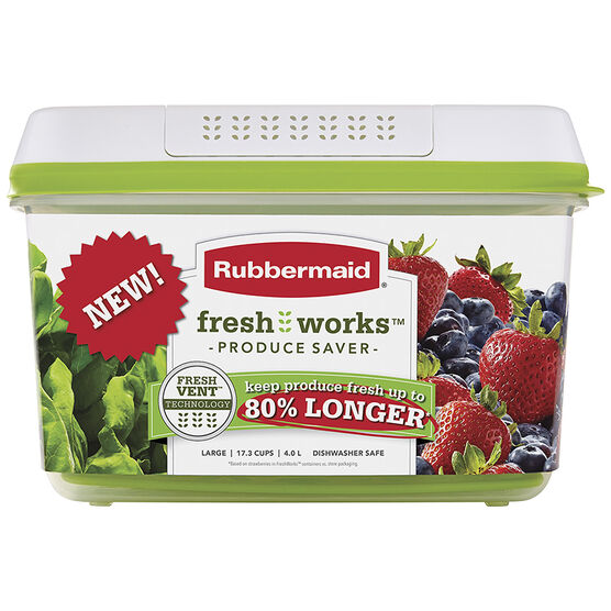 Rubbermaid Fresh Works Produce Saver - Large - 4L