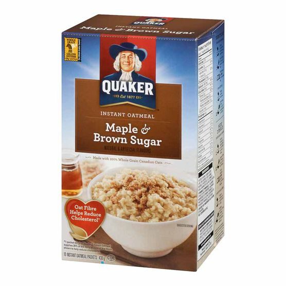 Quaker Instant Oatmeal - Maple & Brown Sugar - 430g