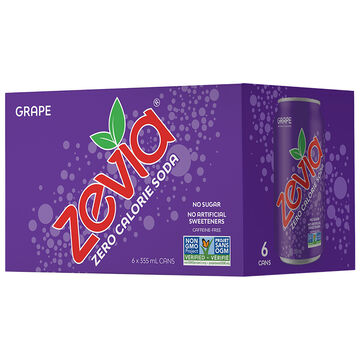 Zevia Soda - Grape - 6 x 355ml
